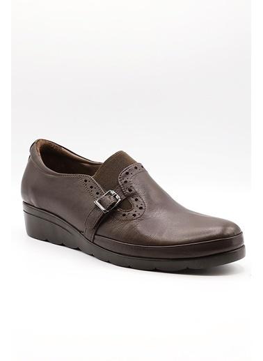 La scada K147 Kahverengı Dolgu Taban Kadın Ayakkabı Kahve